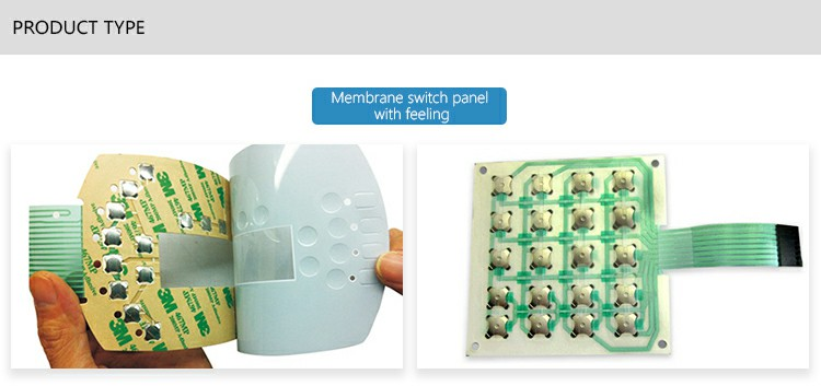 Membrane switch panel with feeling